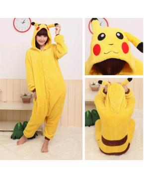 Pokemon Pikachu Flano Flannel Rompers  H...