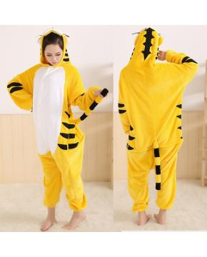 Tiger Flano Flannel Rompers Hoodies Mant...