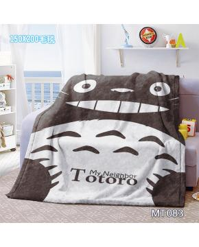 MT083-Totoro Anime Mink Cashmere Blanket...