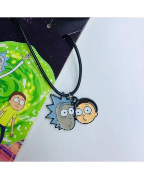 Rick and Morty Necklace 16.5X6.5CM 25G p...