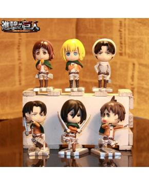Attack on Titan Figure price for 6 pcs a set 8cm