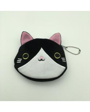 Cat Purse Kitten Wallet 12cm Black and white